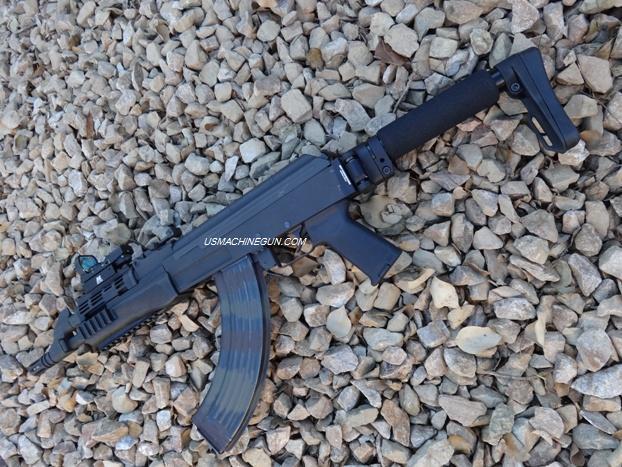 US Machinegun: Modular Light Folding Stock with Adapter for Century