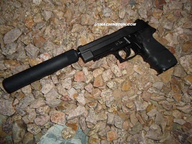 us machinegun fake suppressor for sig sauer p226 p229 p250 9mm