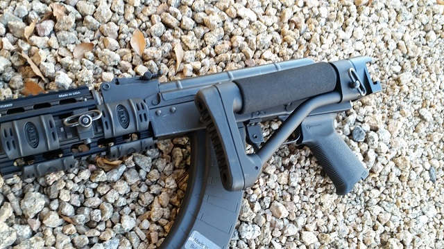 US Machinegun: AR Folding Stock Adapter with Tactical Rear